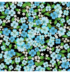 abstract seamless spring floral ornament on black vector image vector image