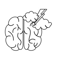 brainstorm idea creativity outline vector image vector image