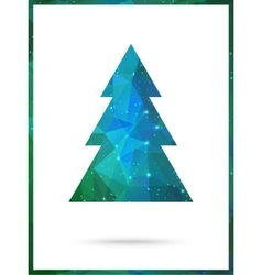 Christmas Tree card design Perfect as vector image vector image