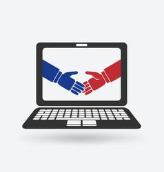 Deal online concept vector