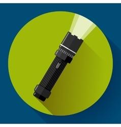 Flashlight icon Flat design style vector image