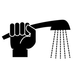 hand with a shower icon vector image vector image