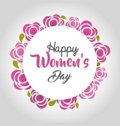 happy women day cards icon vector image vector image