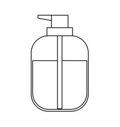 liquid soap bottle dispenser in monochrome vector image
