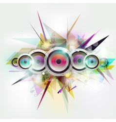 speakers design vector image