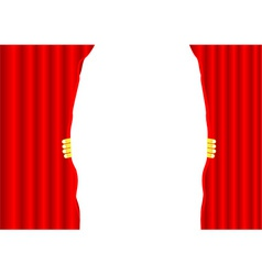 Theater curtain background vector image