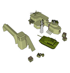 3d on white background a military base vector image