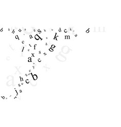 Abstract background with letters vector