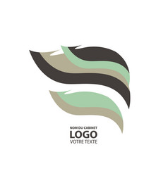 Abstract linear logotype wave flow logo symbol vector