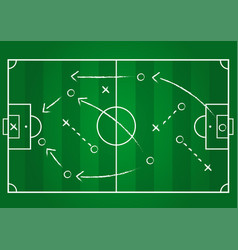 Background soccer team formation and tactic vector
