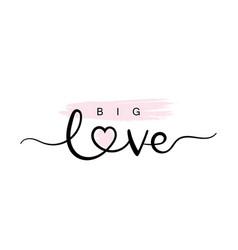 Big love typography slogan for t shirt printing vector