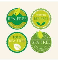 Bisphenol-A Free Label set vector