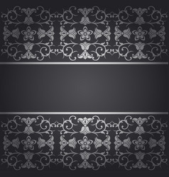 Black background baroque with flowers vector