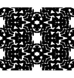 Black Floral Brush Strokes Pattern vector