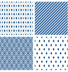 blue trendy minimal seamless patterns male vector image