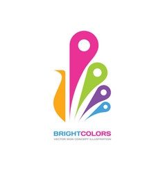 bright colors - logo template concept vector image