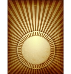 Brown grunge light rays background vector image