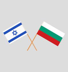 Bulgaria and israel flags vector