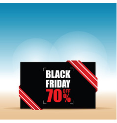 Card of black friday with sales color vector