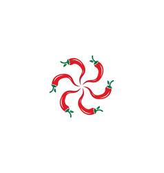 chili logo vector image