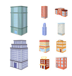 City and build sign set of vector