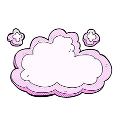 Comic cartoon decorative cloud vector