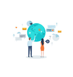Concept international business vector