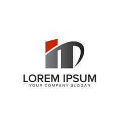 creative modrn letter n logo design concept vector image