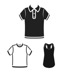 design of clothes and wear logo collection vector image