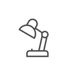 desk lamp line icon vector image