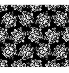 diagonal floral pattern vector image