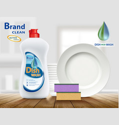 Dishwashing liquid product vector