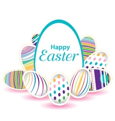 Easter day for egg on design Colorful egg isolated vector image