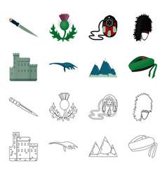 Edinburgh castle loch ness monster grampian vector