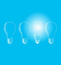 efficiency or energy saving vector image