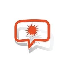 Explosion message sticker orange vector