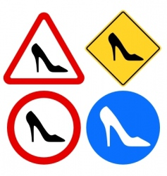 female shoe signs vector image vector image