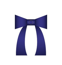 flag of European Union bow vector image
