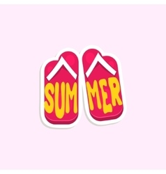 Flip-Flops Bright Color Summer Inspired Sticker vector image