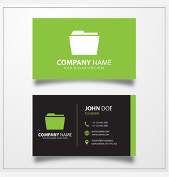 Folder icon business card template vector