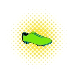 Football boot icon comics style vector image