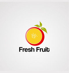 fresh fruit logo icon element and template vector image