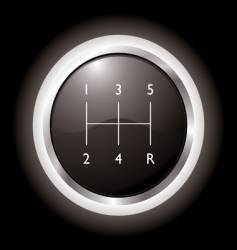 gear shift vector image