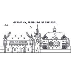 germany freiburg im breisgau line skyline vector image
