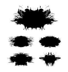 Grunge background set 2 vector image