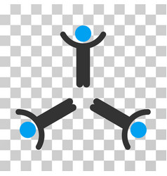 Hands up men icon vector