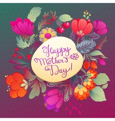 Happy mothers day hand-drawn lettering vector image vector image