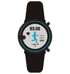 Heartrate wrist tracker icon vector