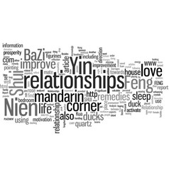 How to improve relationships with feng shui vector