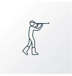 hunting icon line symbol premium quality isolated vector image